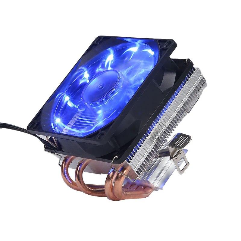 4 теплопроводов холодильник Процессор кулер 3 Pin PWM светодиодный 120 мм охлаждающий вентилятор радиатора для Intel LGA 1150/1151/1155/1156 для AMD AM3 + AM3 AM2