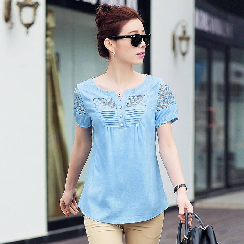 طباعة شعار الموضة تي شيرت المرأة ملابس بأكمام قصيرة 100% القطن الإناث تي شيرت