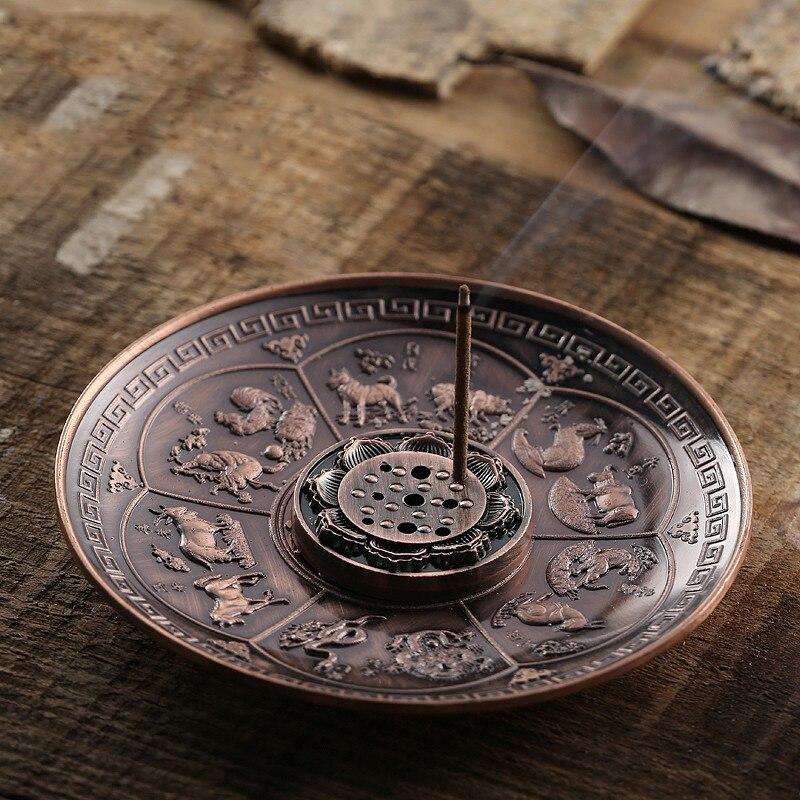 Suporte de incenso animal gravado queimadores de incenso titular suporte de incenso suporte de escritório em casa decoração l5 #4