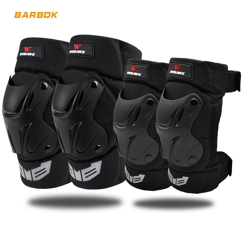 Wosawe esportes ao ar livre protetor de joelho da motocicleta adulto snowboard voleibol ciclismo proteção mtb rolo cotovelo guarda kit