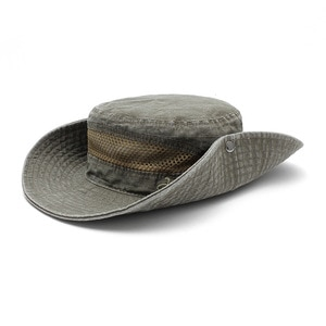 Outdoor round side hat breathable ventilation outdoor sunscreen fisherman hat folding mountaineering fishing cap 14036