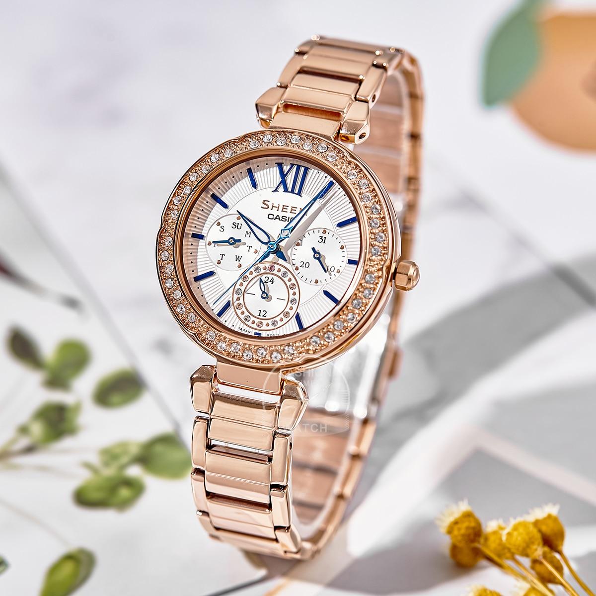 Casio watch Swarovski Crystal women watches fashion top brand luxury set ladies watch women Quartz Sport clock reloj mujer enlarge