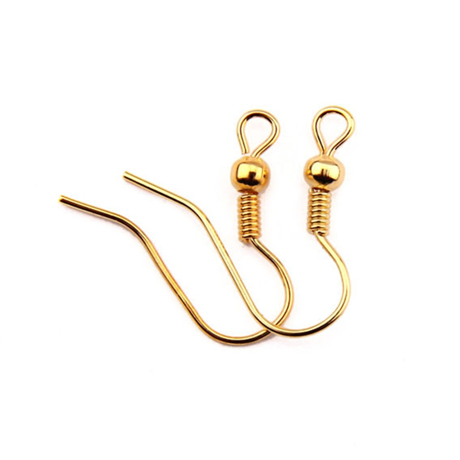 TE-7 из нержавеющей стали крючки для сережек серебряные золотые серьги базовые принадлежности для ювелирных изделий