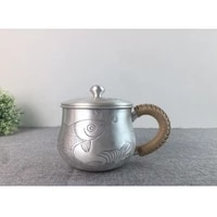 silver cup 999 sterling silver handmade tea set japanese retro office cup water cup tea cup tea ceremony kung fu tea set 320ml