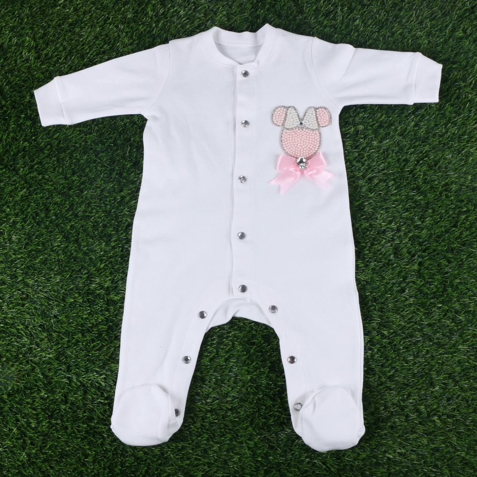 0-3 months baby boy girl infant rompers jumpsuit bodysuits brand footies clothes by handmade crystal cartoon design