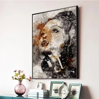 sexy woman poster modern fashion canvas prints big large size picture for home decoration frameless wall paintings