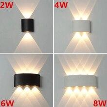 Lámpara Led de pared moderna para exteriores, accesorio de luz para escalera, mesita de noche, Loft, sala de estar, pasillo de casa, apliques de pared de 2W, 4W, 6W y 8W