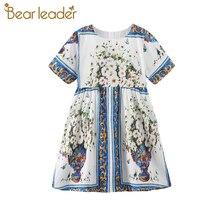 Bear Leader Girls Flowers Dresses New Summer Girls European and American Style Dress Kids Outfits Children's Clothing Vestidos