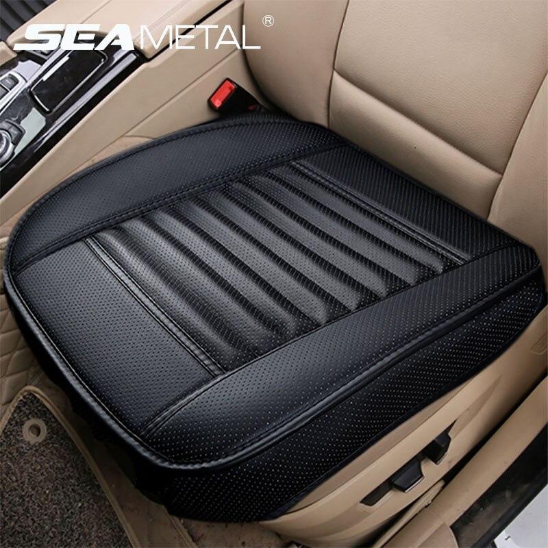 Fundas de asiento de coche, funda Universal de cuero PU para asiento, fundas de automóvil para las cuatro estaciones, almohadillas de protección de asiento Interior para coche, almohadillas para silla