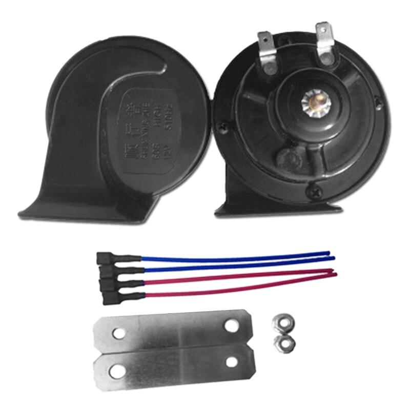 Bocina de aire Universal para coche de 12V bocina de aire de Caracol impermeable altavoz de bocina de alto y bajo voltaje para coche motocicleta camión
