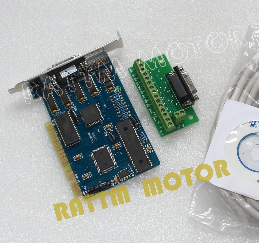 3 محور NC ستوديو PCI الحركة Ncstudio بطاقة التحكم اندلاع LCD مهايئ لشاشة لجهاز التوجيه باستخدام الحاسب الآلي آلة نقش بالحفر