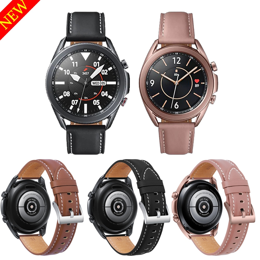 Original Leather Strap for Samsung Galaxy Watch 3 45mm 41mm Smart Bracelet Watchbands for Galaxy Watch 3 Wearable Accessories