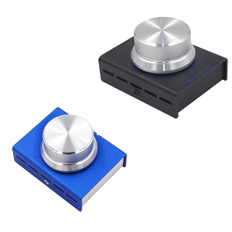 Controle de Volume Botão de Controlador de Volume de Áudio do Alto-falante do Computador do Computador sem Perdas Digital do Ajustador com Uma Ofertas Superiores Computador sem Perdas Controle Chave m Usb do