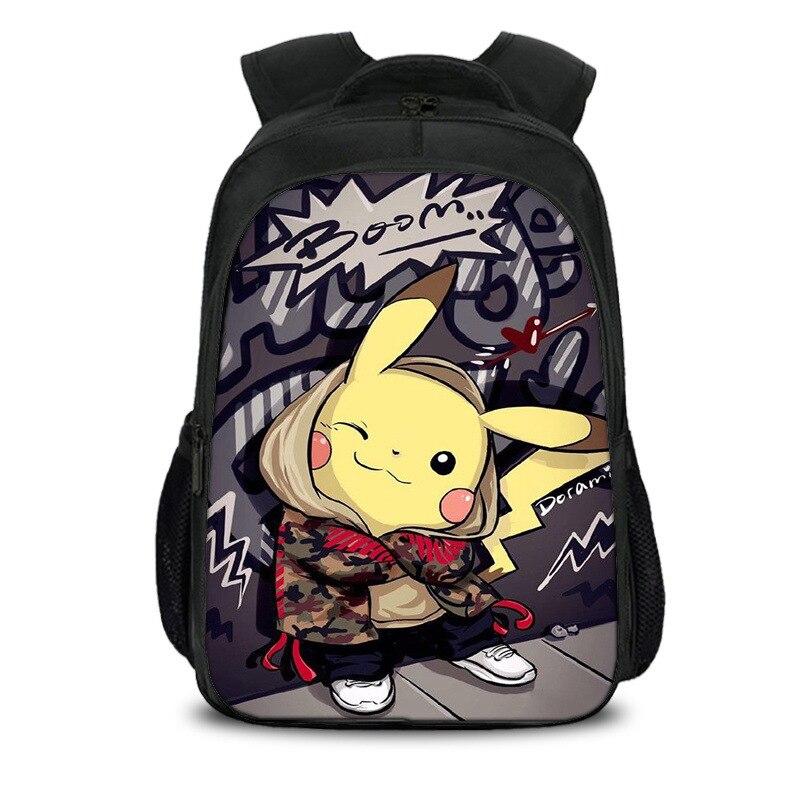 Mochila de Pokémon de Anime, mochilas escolares para niños y niñas, Mochila de Pikachu para adolescentes, mochilas de regalo para niños, mochilas escolares 19