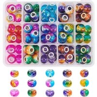 10pcs assorted color big hole glass beads european beads and charms for jewelry making fit pandora bracelet bangle women girls