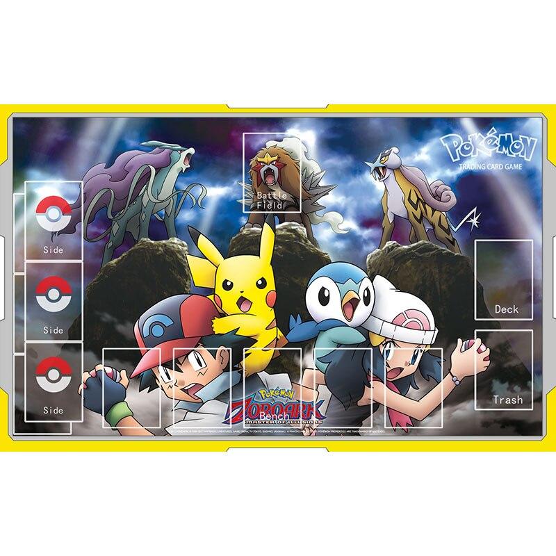 Alfombrilla de Pokemon para ratón, juguetes Piplup Pikachu Dawn Ash Ketchum Zoroark, alfombrilla grande para juegos, juguetes para niños