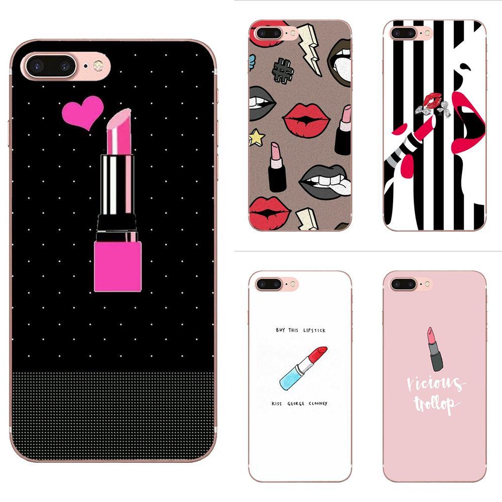 Coque funda del teléfono carcasa Rosa Sexy lápiz labial para HTC deseo 530, 626, 628, 630, 816, 820, 830 A9 M7 M8 M9 M10 E9 U11 U12 la vida además de