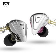 KZ ZSX Terminator casque métal 5BA + 1DD hybride 12 pilotes HIFI basse écouteurs In-Ear moniteur bruit suppression écouteurs