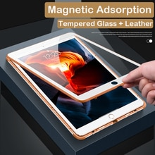 360 Full Magnetic Case For New iPad 10.2 2019 7th Generation Tempered Glass + Metal Stand Leather Cover For iPad 10.2 2019 Case