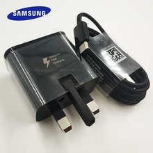 Переходник для быстрой зарядки Samsung в английском стиле, кабель Type-C для Samsung Galaxy Note 10 plus 10 + S10 S8 S9 Plus A3 A5 A7 2017