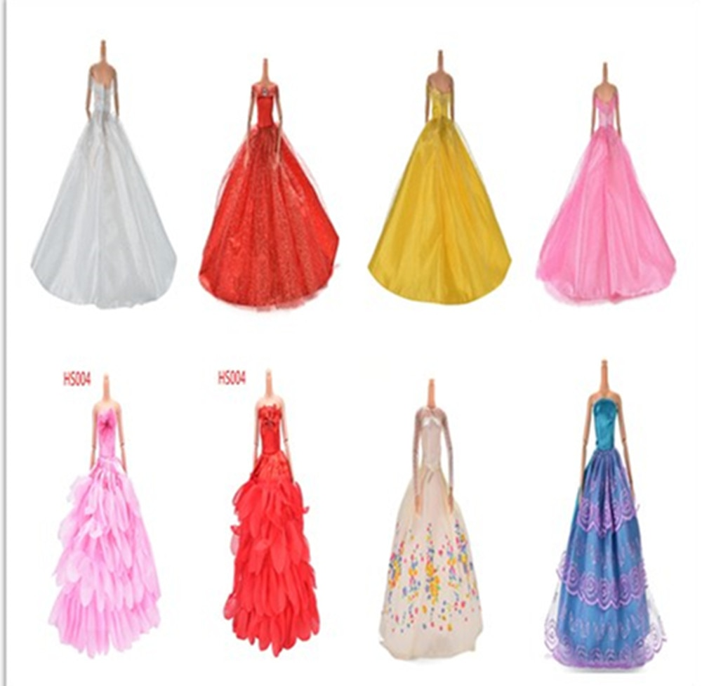 1 Pc Princess Wedding Dress Noble Party Gown For Barbie Doll Fashion Design Outfit Best Gift Noble Party Gown For Girl
