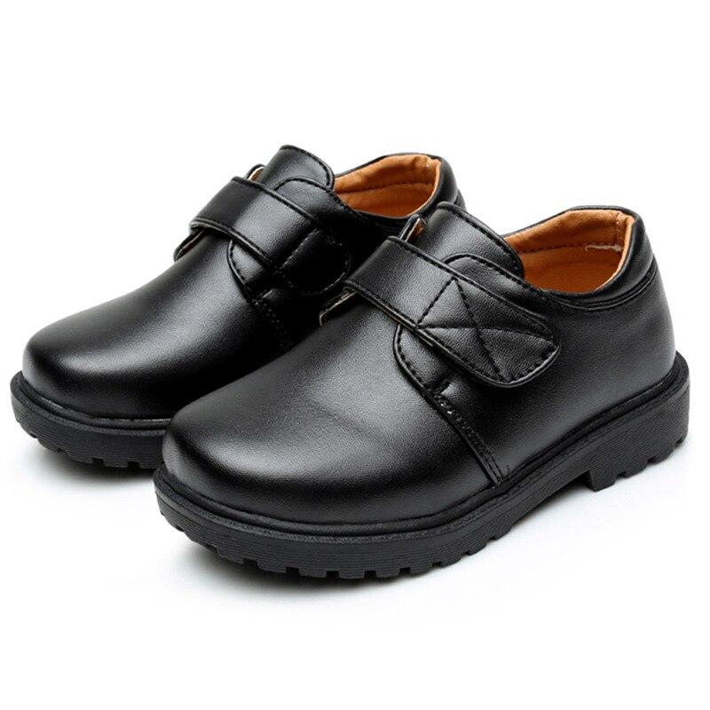 الفتيان أحذية للمدرسة الأسود أحذية الحفلات للأطفال الخريف بو الجلود الرقص الأطفال مراهقون حذاء 3 4 5 6 7 8 9 10 11 12 13 14 سنوات