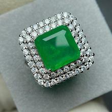 ECHSUN rouge corindon émeraude bague collier pendentif anneaux pour femmes pendentes 925 argent bizuteria bijoux à la main en gros