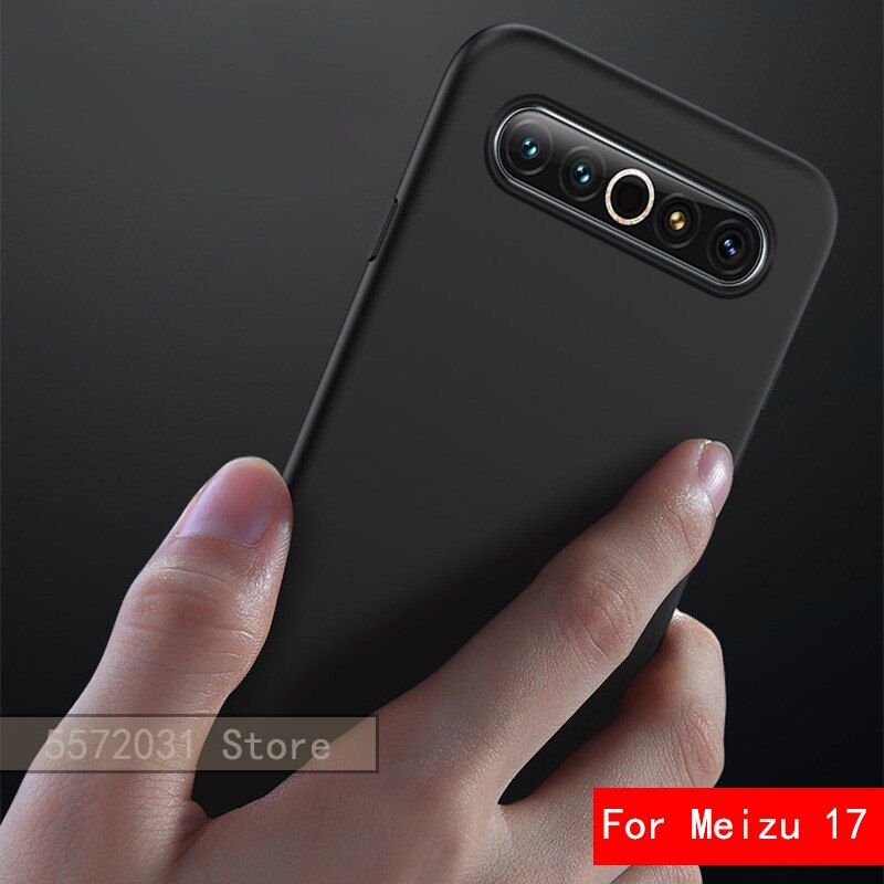 Para Meizu17 funda delgada suave estuche TPU mate para Meizu 16T cubierta de teléfono negro Founda para Meizu 17Pro 16XS funda negra