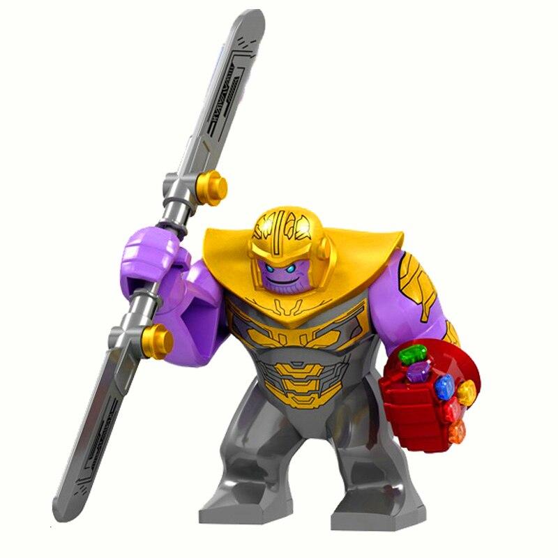 Gran tamaño de héroes de Marvel Thanos con guantelete Infinity War Endgame figuras juguetes de bloques de construcción regalo de construcción para niños