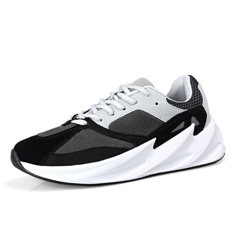 Zapatillas deportivas ALDOMOUR para hombre, estilo novedoso, transpirables, para exteriores, de gran tamaño, cómodas, a la moda, zapatos deportivos J