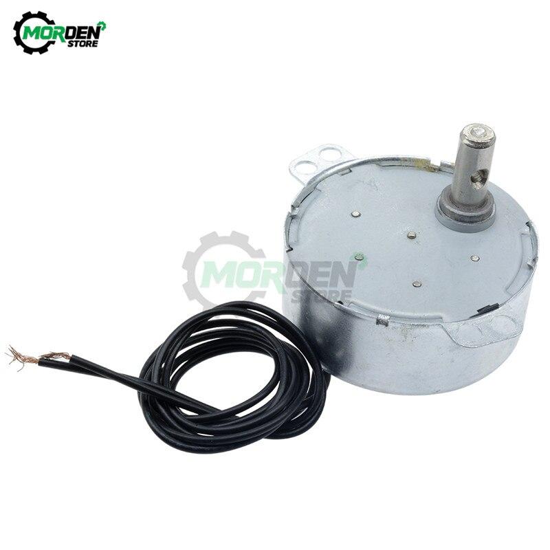 Motor síncrono da c.a. do baixo nível de ruído do motor 5/6rpm cw ccw da bandeja do forno da micro-ondas de tyc 50 AC220-240V 50/60hz