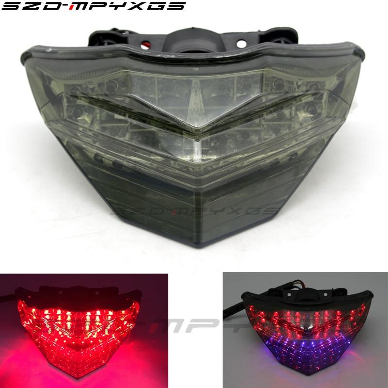 Nuevas luces traseras para motocicleta, luces LED de freno, luces de intermitente para Kawasaki NINJA250R NINJAZ250 Z300 13-16, luces de estacionamiento