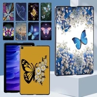 butterfly pattern hard shell case cover for samsung galaxy tab a7 10 4 2020 t500 t505 tablet durable shell casefree stylus