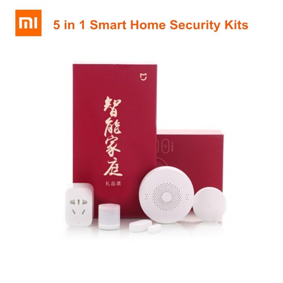 Xiaomi Mijia Mi 5 in 1 Smart Home Security Kits Gateway Fenster/Körper Sensor Drahtlose Schalter WiFi Buchse (zigBee Version)