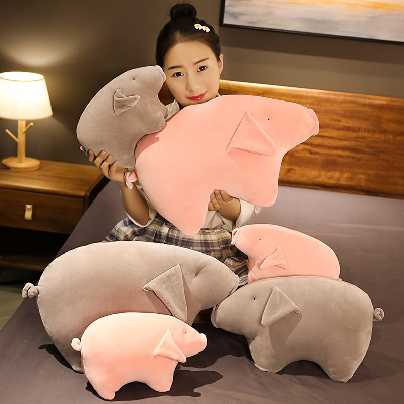 Hot Nice 30CM/40CM/50CM Soft Lovely Sleeping Pig Plush Pillow Cute Lifelike Animal Toys Stuffed Sofa Chair Bed Cushion Kids Gift  - buy with discount