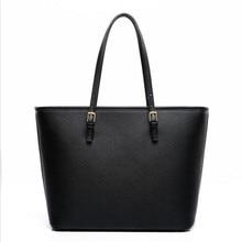 Big Bag 2020 fashion women pu leather handbag brief shoulder bag black white large capacity luxury tote shopper bag designer