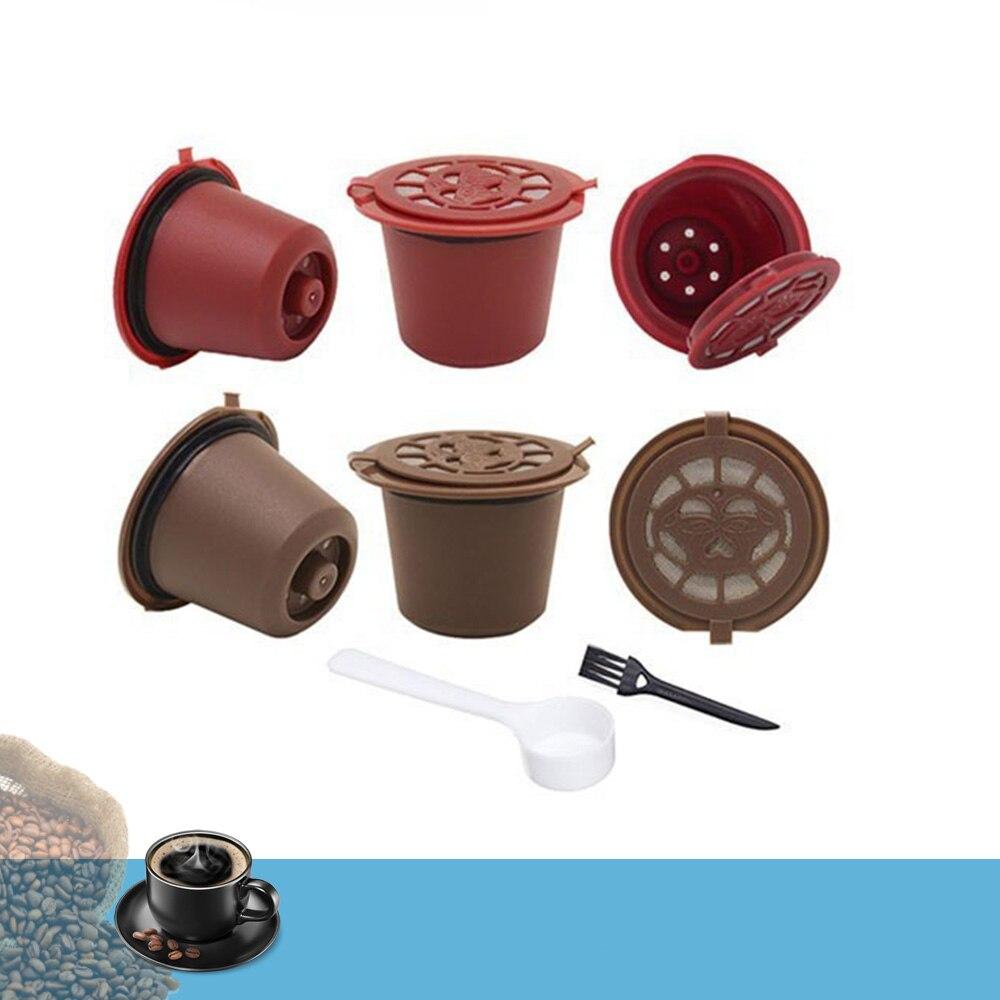 4 шт. кофейный фильтр 20 мл многоразовая перезаправляемая кофейная капсула кофейные капсульные фильтры для Nespresso с ложка-кисточка кухонными ...