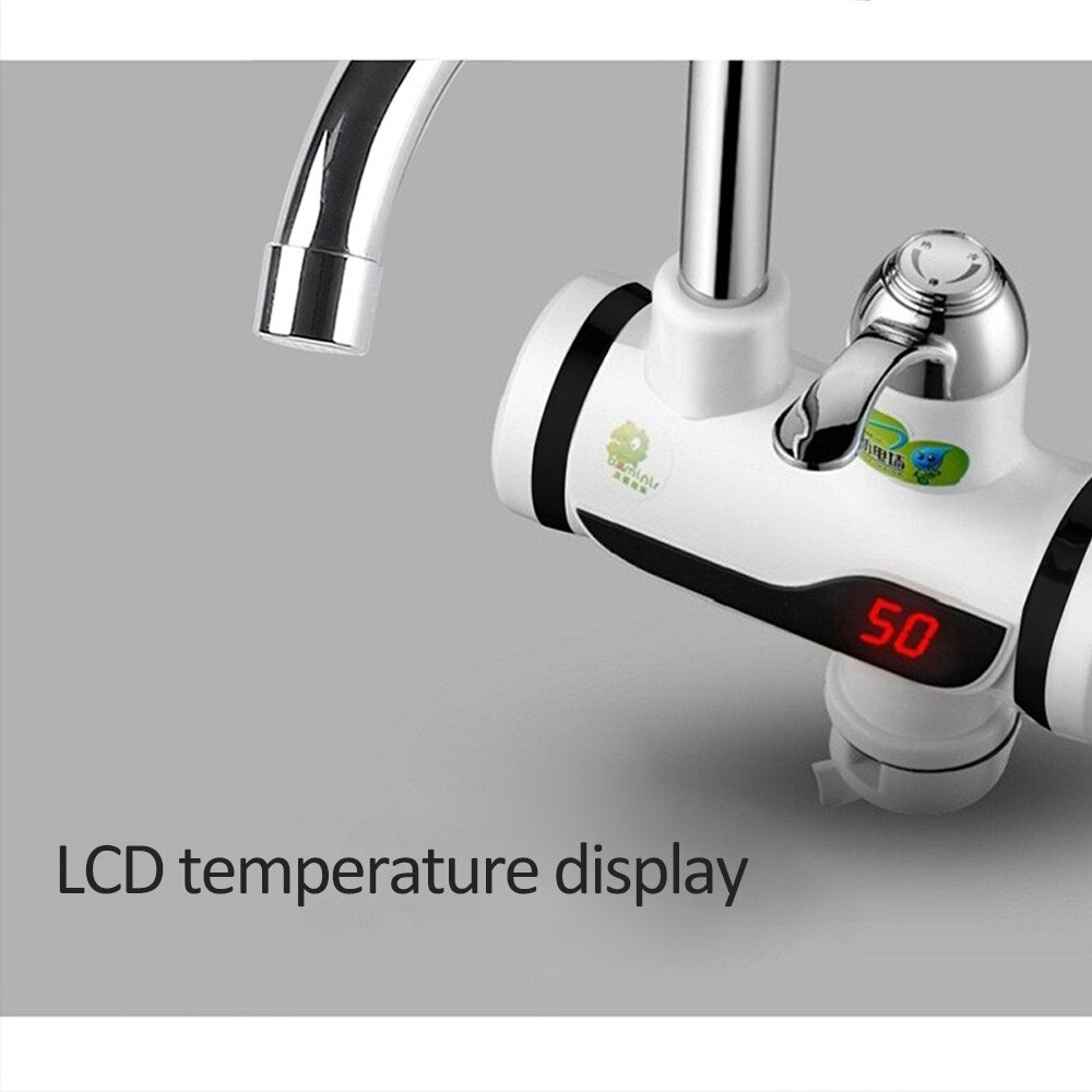 KBAYBO water heater tap LCD temperature display Tankless faucet  3000W Water Heater Bathroom Kitchen instant electric