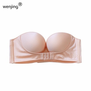 2021   wholesale   Push Up  Backless   Seamless   Sexy Women Invisible   Strapless Bras