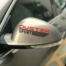 2 sztuk/zestaw dla Renault dacia duster naklejka na samochodowe lusterko wsteczne graficzne winylu wykończenia naklejki sportowe lusterko samochodowe naklejki dekoracyjne akcesoria samochodowe