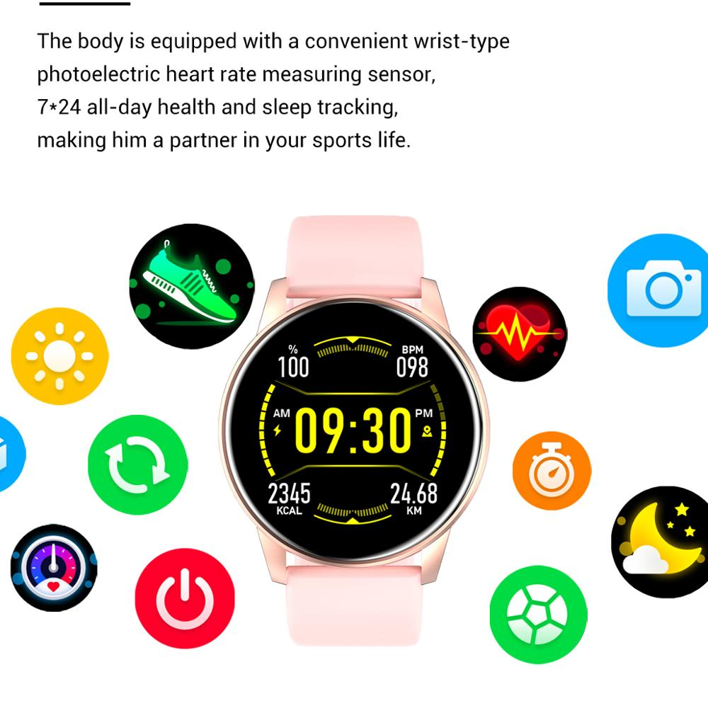 2021Women Smart Watch Real-time Weather Forecast Activity Tracker Heart Rate Monitor Sports Ladies Smart Watch MenForAndroid IOS