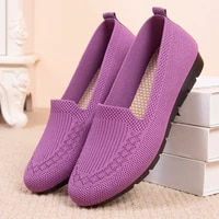 womens shoes 2021 new net shallow mouth flat shoes breathable casual shoes mother shoes women loafers