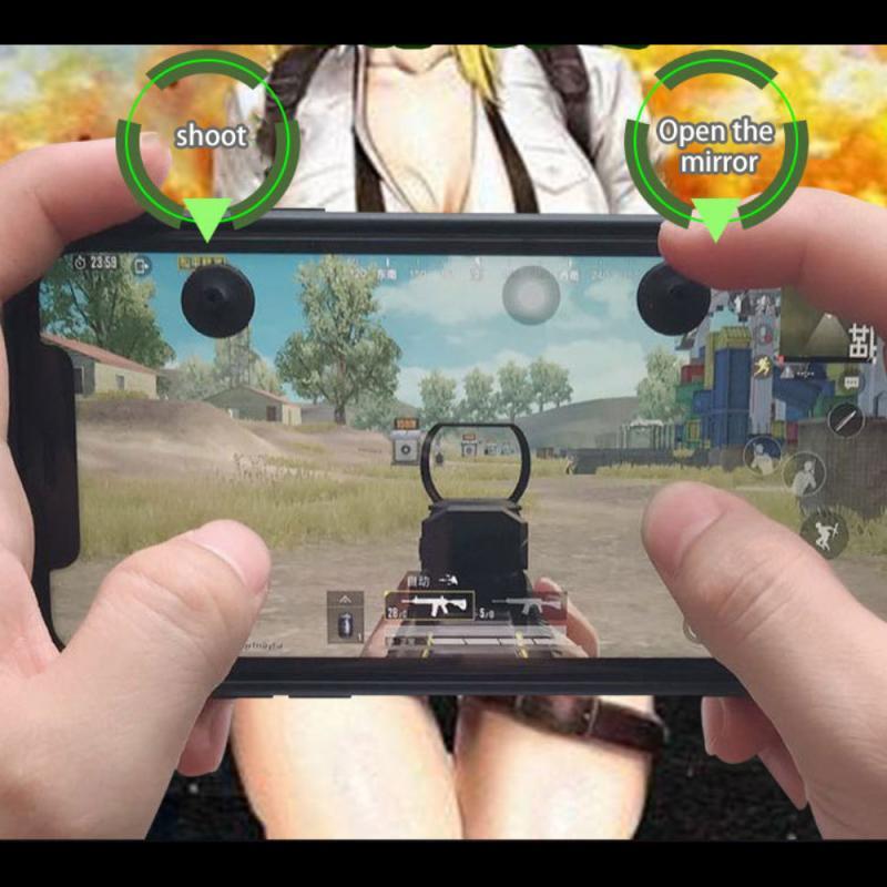 Four Finger Suction Touch Button Joystick PUBG Controller Eat Chicken Artifact Peace Elite Battlefield Mobile Game Rocker 4PCS general mobile games joystick touch screen rocker controller