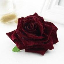 2/5 sztuk 10CM duża wysokość jakości róże głowy ślubne dekoracje kwiatowe ścienne broszka dla panny młodej akcesoria dekoracje na boże narodzenie dla domu