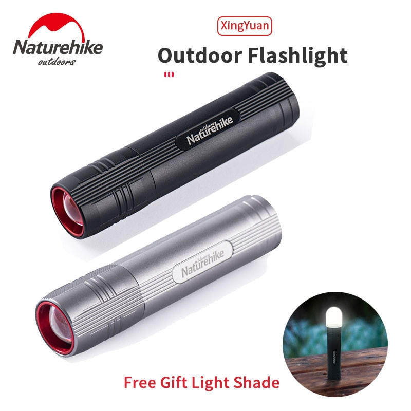 Naturehike-مصباح يدوي خارجي ، 5 أوضاع ، سعة بطارية 2500 مللي أمبير ، مقاوم للماء ، زوومابلي ، مصباح يدوي صغير ، 130 جرام فقط ، 1000 لومن