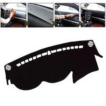 DWCX Polyester noir voiture tableau de bord couverture tapis de bord tableau de bord tapis de bord adapté pour Hyundai Sonata hybride GLS SE limitée 2011 2012 2013 2014