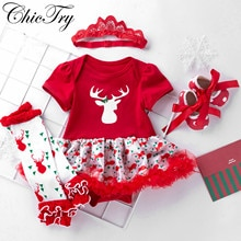 Newborn Baby Girls Costume Romper Baby Clothes New Year Girl Bebe Clothing Children Infant Dresses w