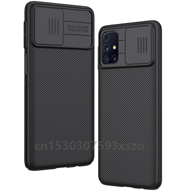 NILLKIN For Samsung  Galaxy M31s case Arrival Anti-shock Slide Camera Protection Cover TPU&PC Mobile Phone Cover Case