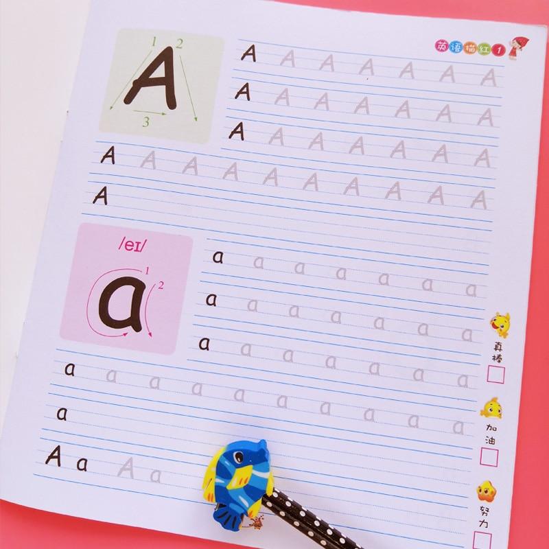 2 Books Preschool English 26 Alphabet Writing Arabic Calligraphy copybook for kids Children Exercises Calligraphy Practice Book недорого