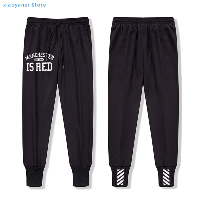 United Kingdom Red Letter Printed sports trousers Men Manchester running long pants unisex sweatpants Plus Size